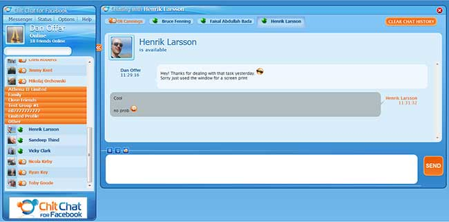Best Facebook Chat Software for Windows chit chat