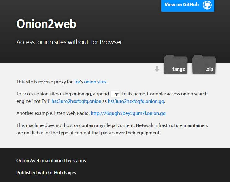 How to access deep web onion sites without using Tor Onion.gq
